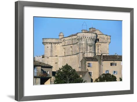 Gordes Castle (Chateau of Gordes), 16th Century, Provence-Alpes-Cote D'Azur, France--Framed Art Print