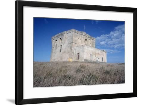 Aragonese Watch Tower, 16th Century, Torre Guaceto Natural Reserve, Apulia, Italy--Framed Art Print