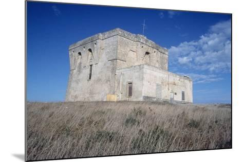 Aragonese Watch Tower, 16th Century, Torre Guaceto Natural Reserve, Apulia, Italy--Mounted Photographic Print
