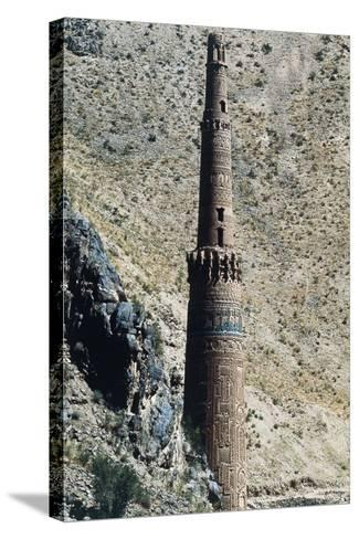 Minaret of Jam, 12th Century (Unesco World Heritage List, 2002), Ghowr Province, Afghanistan--Stretched Canvas Print
