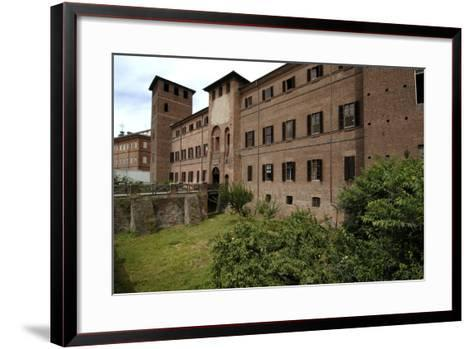 Visconti Castle (Founded in 13th Century), Now the Courthouse, Vercelli, Piedmont, Italy--Framed Art Print
