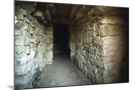 Walkway in the Tumulus of Montecalvario, 7th-6th Century, Castellina in Chianti, Tuscany, Italy--Mounted Photographic Print
