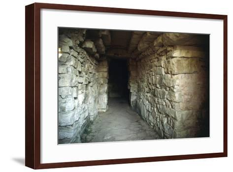 Walkway in the Tumulus of Montecalvario, 7th-6th Century, Castellina in Chianti, Tuscany, Italy--Framed Art Print