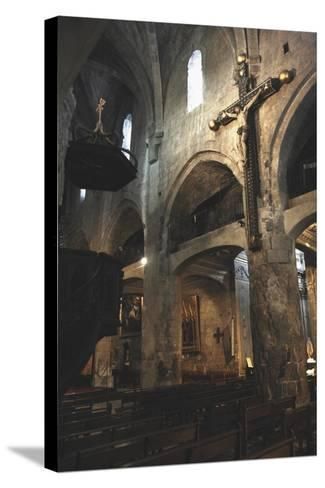 Interiors of a Cathedral, Notre-Dame Du Puy, Grasse, Provence-Alpes-Cote D'Azur, France--Stretched Canvas Print