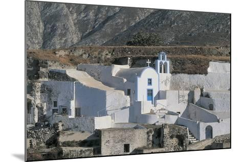 Facade of a Church, Episkopi, Santorini, Cyclades Islands, Southern Aegean, Greece--Mounted Photographic Print