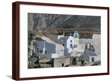 Facade of a Church, Episkopi, Santorini, Cyclades Islands, Southern Aegean, Greece--Framed Art Print