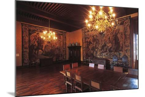 Living Room with Tapestries, Chateau of Vizille, 17th Century, Rhone-Alpes, France--Mounted Photographic Print