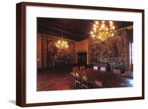 Living Room with Tapestries, Chateau of Vizille, 17th Century, Rhone-Alpes, France--Framed Art Print