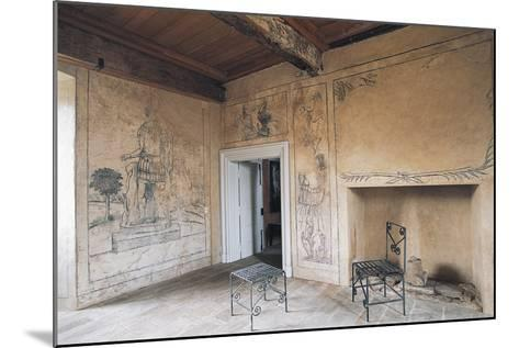 Room with Monochrome Frescoes, Chateau of Lacapelle-Marival, Midi-Pyrenees, France--Mounted Photographic Print
