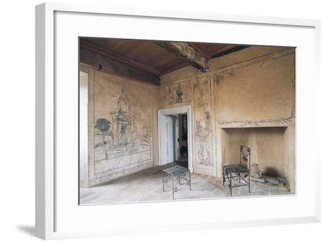 Room with Monochrome Frescoes, Chateau of Lacapelle-Marival, Midi-Pyrenees, France--Framed Art Print