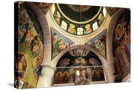 The Frescoes in the Church of the Greek Orthodox Convent of St Thecla (Taqla), Maaloula, Syria--Stretched Canvas Print