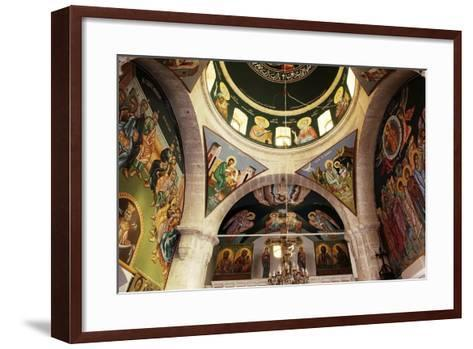 The Frescoes in the Church of the Greek Orthodox Convent of St Thecla (Taqla), Maaloula, Syria--Framed Art Print