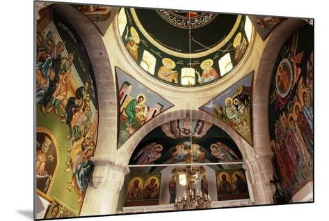 The Frescoes in the Church of the Greek Orthodox Convent of St Thecla (Taqla), Maaloula, Syria--Mounted Photographic Print