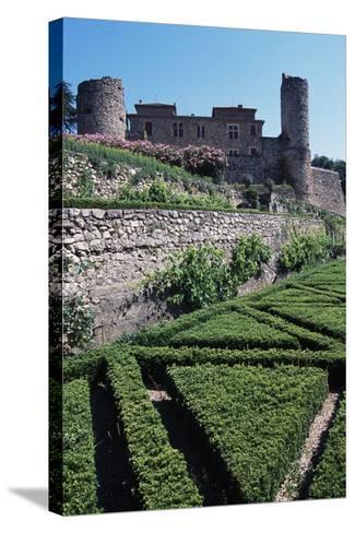 Terraced Garden of Chateau of Cazilhac, Le Bousquet-D'Orb, Languedoc-Roussillon, France--Stretched Canvas Print