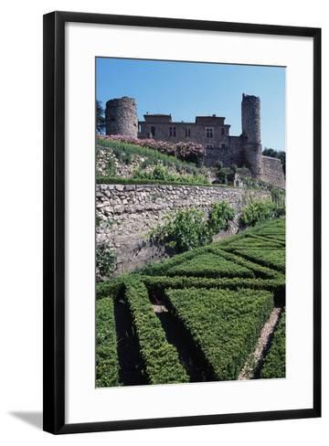 Terraced Garden of Chateau of Cazilhac, Le Bousquet-D'Orb, Languedoc-Roussillon, France--Framed Art Print