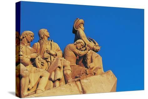 Monument to Discoveries, 1960, on Bank of Tagus River, Belem District, Portugal. Detail--Stretched Canvas Print