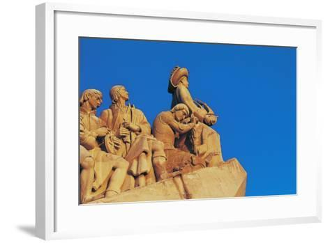Monument to Discoveries, 1960, on Bank of Tagus River, Belem District, Portugal. Detail--Framed Art Print