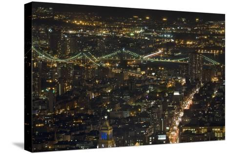 Aerial View of the Manhattan Skyline from the Top of the Rock at Rockefeller Center, New York, Usa--Stretched Canvas Print