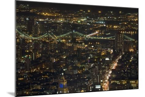 Aerial View of the Manhattan Skyline from the Top of the Rock at Rockefeller Center, New York, Usa--Mounted Photographic Print