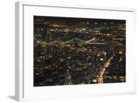 Aerial View of the Manhattan Skyline from the Top of the Rock at Rockefeller Center, New York, Usa--Framed Art Print