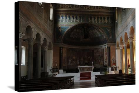 Italy. Rome. Basilica of Santa Maria in Domnica. Interior with the 9th Century Apse Mosaics--Stretched Canvas Print