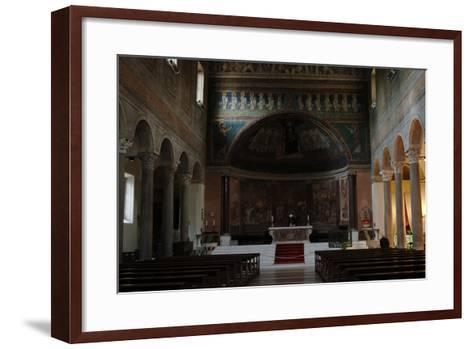 Italy. Rome. Basilica of Santa Maria in Domnica. Interior with the 9th Century Apse Mosaics--Framed Art Print