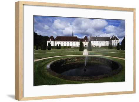 Chateau of Gilly in Gilly-Les-Citeaux Seen from Garden, Burgundy, France--Framed Art Print