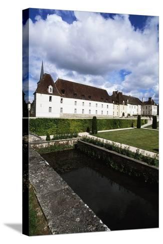 Chateau of Gilly in Gilly-Les-Citeaux Seen from Garden, Burgundy, France--Stretched Canvas Print