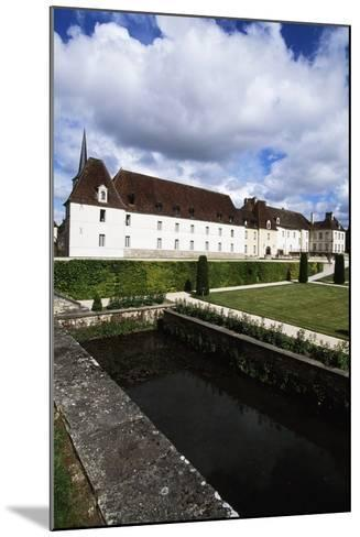 Chateau of Gilly in Gilly-Les-Citeaux Seen from Garden, Burgundy, France--Mounted Photographic Print