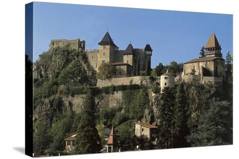 Low Angle View of a Castle, Saint-Paul-En-Cornillon, Rhone-Alpes, France--Stretched Canvas Print