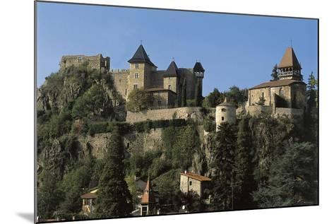 Low Angle View of a Castle, Saint-Paul-En-Cornillon, Rhone-Alpes, France--Mounted Photographic Print