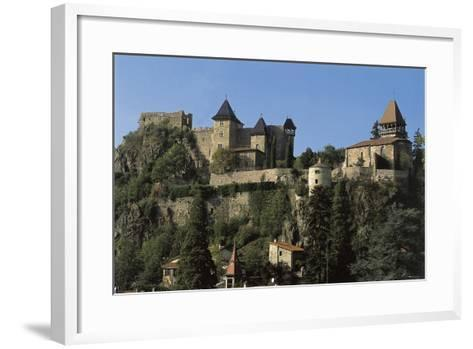 Low Angle View of a Castle, Saint-Paul-En-Cornillon, Rhone-Alpes, France--Framed Art Print