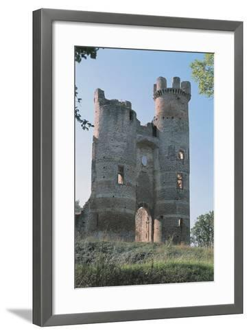 Low Angle View of a Ruined Castle, Bressieux Castle, Rhone-Alpes, France--Framed Art Print
