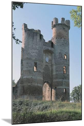 Low Angle View of a Ruined Castle, Bressieux Castle, Rhone-Alpes, France--Mounted Photographic Print