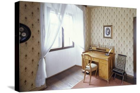 Writing Desk of Bed?ich Smetana, Jabkenice, Central Bohemia, Czech Republic--Stretched Canvas Print