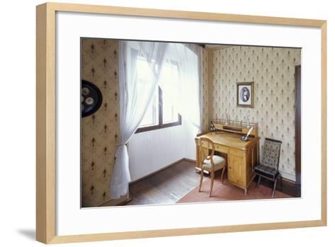 Writing Desk of Bed?ich Smetana, Jabkenice, Central Bohemia, Czech Republic--Framed Art Print