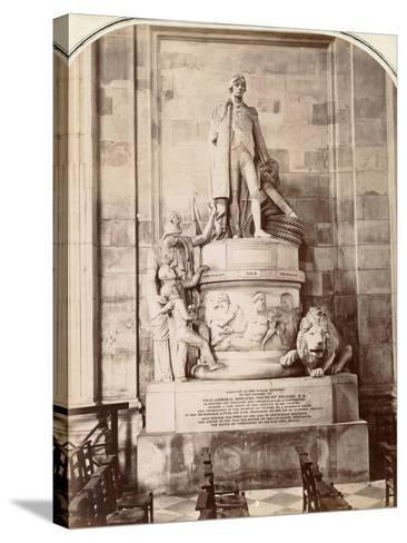 Monument to Vice-Admiral Horatio Nelson, St Paul's Cathedral, London, C.1885--Stretched Canvas Print
