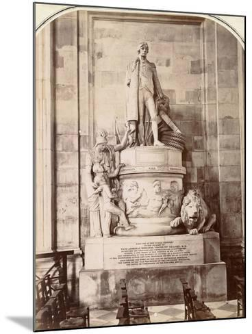 Monument to Vice-Admiral Horatio Nelson, St Paul's Cathedral, London, C.1885--Mounted Photographic Print