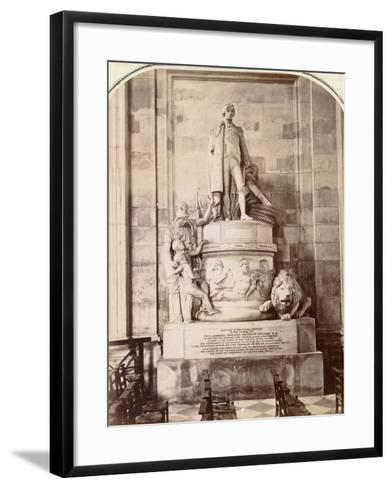 Monument to Vice-Admiral Horatio Nelson, St Paul's Cathedral, London, C.1885--Framed Art Print