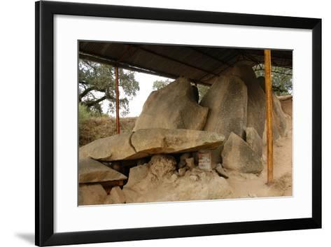 Anta Grande Do Zambujeiro. Megalithic Monument. 4000-35000 BC. Alentejo Region--Framed Art Print