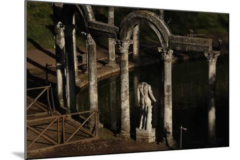 Hadrian's Villa. the Canopus with the Statue of God Mars. 2nd Century. Italy--Mounted Photographic Print