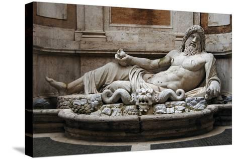Roman Art. Marphurius or Marforio. Marble. Capitoline Museums. Rome. Italy--Stretched Canvas Print