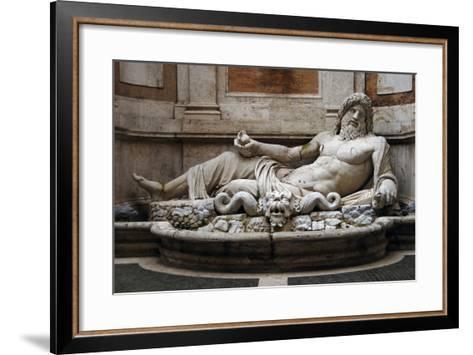 Roman Art. Marphurius or Marforio. Marble. Capitoline Museums. Rome. Italy--Framed Art Print