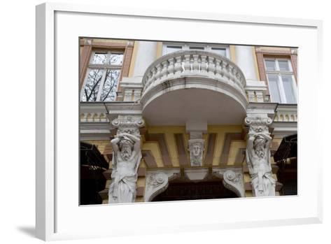 Detail of the Decoration on the Facade of Jugendstil Building, Odessa, Ukraine--Framed Art Print