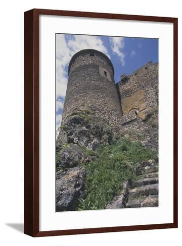 Perimeter Tower of Chateau of Busseol, Founded in 12th Century, Auvergne, France--Framed Art Print