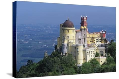 Pena National Palace, 19th Century, Mixture of Eclectic Styles, Sintra, Portugal--Stretched Canvas Print