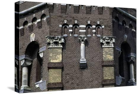 Capitals and Decorations on the Water Tower in the Hague (1874), the Netherlands--Stretched Canvas Print