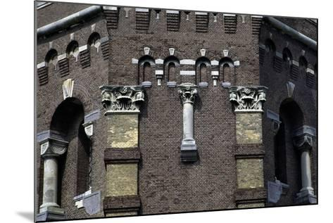Capitals and Decorations on the Water Tower in the Hague (1874), the Netherlands--Mounted Photographic Print