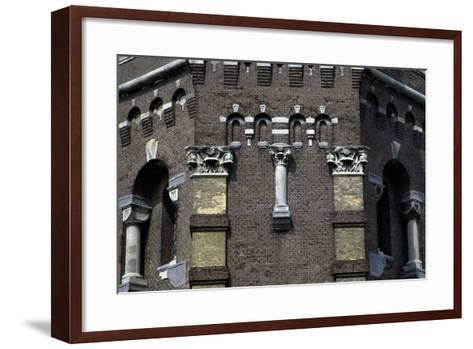 Capitals and Decorations on the Water Tower in the Hague (1874), the Netherlands--Framed Art Print