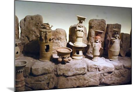 Reconstruction of an Edomite Shrine with Original Ceramic Ritual Vessels, Hatzeva, Israel--Mounted Photographic Print
